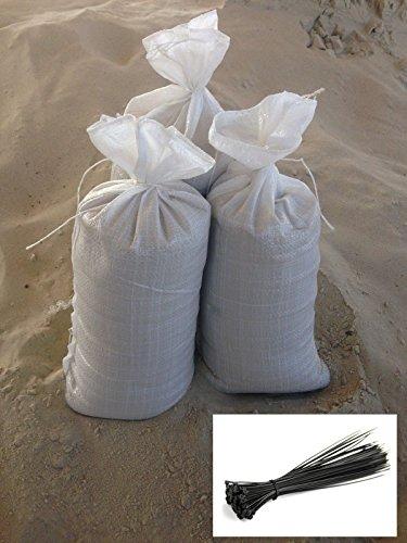 10-x-Hochwasserscke-PP-30-x-60-wei-15-kg-fr-Sand-10-Kabelbinder-36-x-200-schwarz-0
